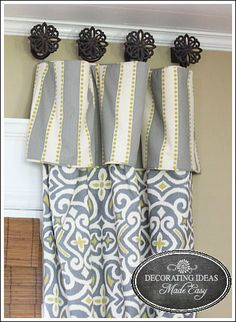 New Curtains - My daughter actually helped me pick the fabric for my living room curtains. I was nervous at first, because the fabric was a little different tha…