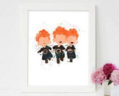 Brave Triplets Brave Triplets Print Disney by colormykidsroom