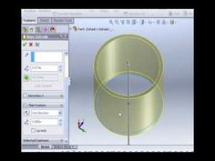 Solidworks Tutorials -1- Cut/Extrude - YouTube