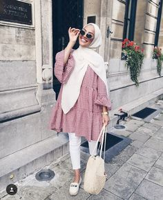 New fashion hijab outfits casual muslim - hijab outfit Modern Hijab Fashion, Street Hijab Fashion, Hijab Fashion Inspiration, Muslim Fashion, Modest Fashion, Hijab Fashion Casual, Hijab Fashion Summer, Casual Hijab Styles, Fashion Muslimah