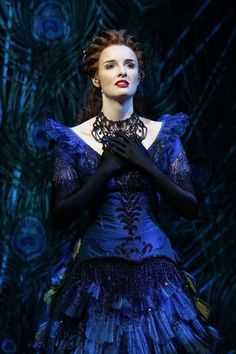 Christine Daae's Peacock gown from Australia's run of Love Never Dies, Andrew Lloyd Webber's recent Phantom of the Opera Sequel (2012 3-month run) --- Dark a deep and beautiful, just like the original!
