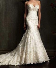 white / ivory mermaid wedding dress lace bridal gown train mermaid prom dress