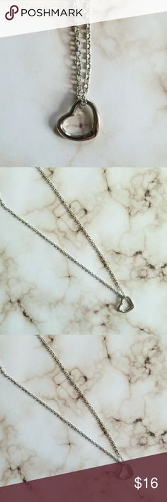 5 for $25 Silver Color Heart Pendant Necklace Silver Color Heart Pendant Necklace Jewelry Necklaces