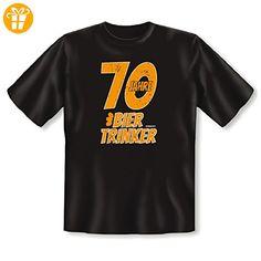 Witziges T-Shirt als Geschenk zum 70. Geburtstag : 70 Jahre BIERTRINKER - Shirts zum 70 geburtstag (*Partner-Link)