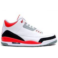 136064-120 Air Jordan Retro 3 White Fire Red-Neutral Grey-Black Price: $104.00 http://www.theblueretros.com/