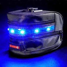 Sacoche de selle vélo haute luminosité à LED bleu