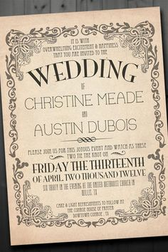 Vintage Wedding Invitations 19
