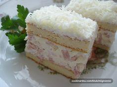 Neskutočná torta so šunkou a syrom - Báječné recepty Sweet Desserts, Easy Desserts, Baking Recipes, Cake Recipes, Torte Recipe, Croatian Recipes, Yummy Food, Tasty, Appetizers For Party
