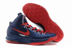 huge discount e2f31 56df5 Authentic Nike Zoom KD V 5 Royal Blue Red Basketball Shoes For Wholesale