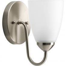 Progress P2706-09 - One Light Brushed Nickel Etched Glass Bathroom Sconce