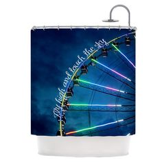 East Urban Home Fly High and Touch The Sky Shower Curtain