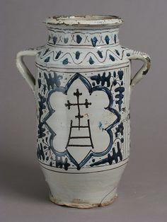 Pharmacy Jar with the Arms of the Hospital of Santa Maria della Scala #TuscanyAgriturismoGiratola