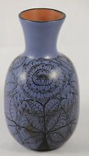 Vintage Ceramic Vase from Huancito, Mexico Hand Painted, Signed by Artist