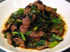 Chinese Broccoli Lamb ( 芥蘭羊肉, Gaai3 Laan4 Joeng4 Juk6)