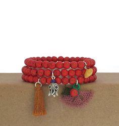 Red beaded bracelet for women / adjustable bracelet / triple beaded bracelet / handmade red bracelets / cute bracelet / casual bracelet by BanSisDesignJewelry on Etsy https://www.etsy.com/listing/537890426/red-beaded-bracelet-for-women-adjustable