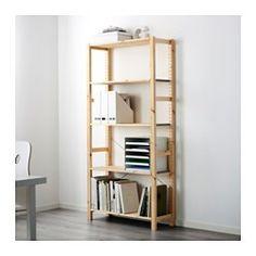 IKEA - IVAR, Regal, Unbehandeltes Massivholz ist ein robustes Naturmaterial, das durch Ölen oder Wachsen noch strapazierfähiger und pflegeleichter wird.Mit versetzbaren Böden; der Abstand dazwischen kann dem Bedarf angepasst werden.