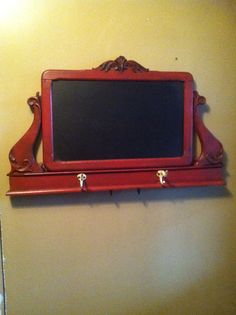 Old dresser mirror repurposed into a chalkboard Repurposed Furniture, Painted Furniture, Diy Furniture, Diy Mirror, Dresser With Mirror, Old Dressers, Furniture Restoration, Architectural Salvage, Home Projects