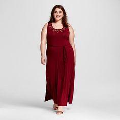 Size X Women's Plus Size Maxi Dress with Embellished Neckline - Ava & Viv™