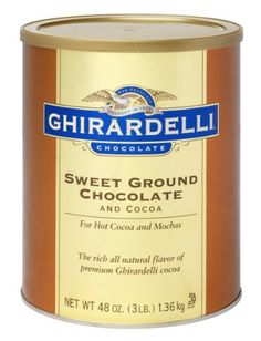 Ghirardelli's Sweet Ground White Chocolate flavor mix offers a wonderfully rich and complex white chocolate flavor. Serve as a hot or cold beverage, o. Chocolate Heaven, Chocolate Shop, Best Chocolate, Chocolate Flavors, White Chocolate, Easy Deserts To Make, Ghirardelli Chocolate, Natural Flavors, Cocoa