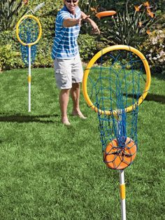 Make this into a basketball shoot. Super Loop- Disc backyard, outdoor, carnival games for kids Carnival Games For Kids, Carnival Ideas, Outdoor Games Adults, Fall Festival Games, Spring Festival, Outside Games, Camping Games, Backyard Games, Backyard Carnival