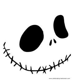 Jack-O-Face Stencil 5 - Free Pumpkin Carving Stencil/Pattern