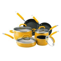 Rachael Ray Porcelain 10pc Yellow Cookware Set from Target