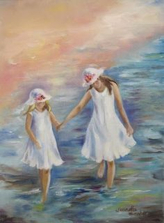 pretty girls in white dresses