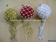 beaded christmas ornaments | Christmas Decoration Supplies,Christmas Decoration Supplies ...