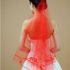 Free shipping tulle 1.5m white ivory red bridal veil tulle wedding veils TS003