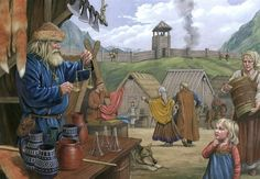 """everyday life in the viking times - ja, eller inte alls """"viking times"""", eftersom att dra i """"viking"""" är en självgiven titel och inte en ras av människor utan människor från en någorlunda nordisk stam, vilken som helst! Det borde stå nånting i stil med: Everyday life in the scandinavian pre-christian times..?"""