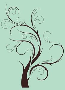 Tree Branch Stencil | Wall-Stencil-Tree-Branch-Template-Painting-Artwork-Background-Custom ...