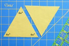How to cut sixty degree equilateral triangles with a long quilters ruler