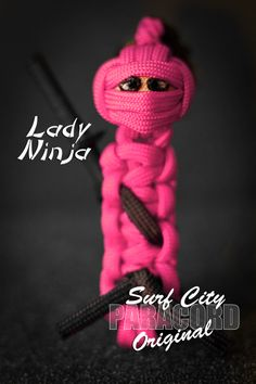 Pink Ninja with pony tail  http://www.etsy.com/listing/171240622/handmade-paracord-ninja-keyfob