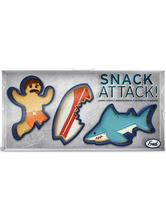 """Snack Attack"" Cookie Cutters by Fred and Friends"