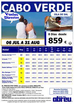 Cabo Verde vuelo DIRECTO desde Madrid salidas todos los lunes desde 06 Jul a 31 Ago busca y compara ultimo minuto - http://zocotours.com/cabo-verde-vuelo-directo-desde-madrid-salidas-todos-los-lunes-desde-06-jul-a-31-ago-busca-y-compara-ultimo-minuto/