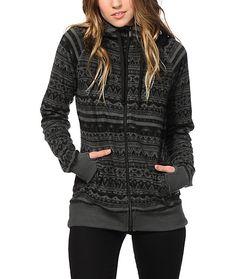 Empyre Heather Printed Tech Fleece Jacket at Zumiez $30