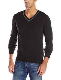 Men's Clothing - Axist Mens Long Sleeve VNeck Sweater * Click on the image for additional details. (This is an Amazon affiliate link)