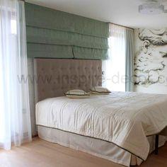 Římské rolety a záclony do ložnice, roman blinds for the bedroom