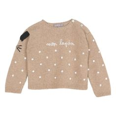 LE DRESSING DES ENFANTS Archives - Sunday Grenadine Baby Sweaters, Wool Sweaters, Caramel Baby, Rabbit Baby, Composition Design, Black Thread, Merino Wool Sweater, Camel, Dressing