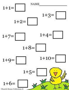 Kindergarten Math Addition Worksheets | free printable Easter Math Addition Worksheet for kids in Kindergarten ...