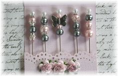 Mini Matchbook Stick Pins Pink and Gray for by LittleScrapShop, $5.99