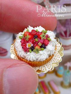 Woodland fruit and Chantilly cream tart.