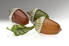 Acorn Paperweight: Michael Cohn, Molly Stone: Art Glass Sculpture - Artful Home