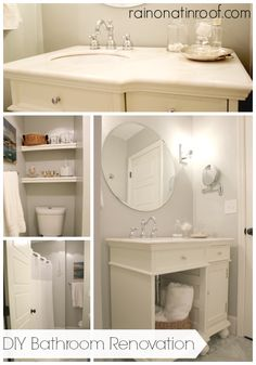 This bathroom renovation was done for UNDER $700!! It was even featured in This Old House too! DIY Bathroom Renovation