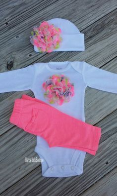 Newborn Outfit Baby Girl Take Home Outfit Pink And White Going Home Outfit Coming Home Outfit Photo Prop Outfit Hospital Outfit by BiancaBellaBoutique on Etsy