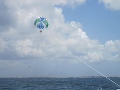 Parasailing in the Cayman Islands