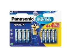 From 8.50 Panasonic Evolta Aa/lr6 Aa Alkaline Battery (pack Of 8)