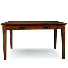 Shop Mission Wooden Laptop Desk with Pullout Compartment - Overstock - 6366457 Oak Desk, Wooden Desk, Office Furniture Stores, Furniture Deals, Furniture Outlet, Online Furniture, Simple Desk, Mission Oak, Bedroom Desk