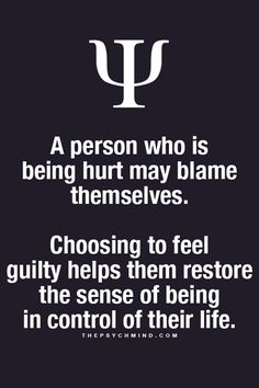 Guilt & The Illusion Of Control