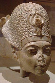 Head of Tutankhamun Dynasty 18 ~ 1336-1327-B.C. ~ Limestone
